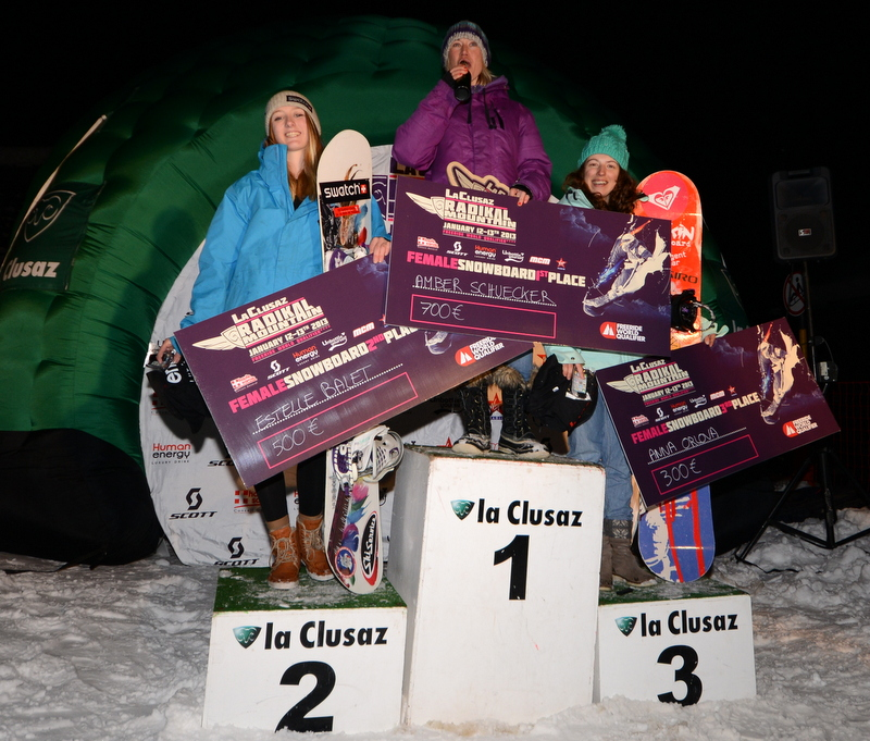 Podium 2013 snowboard women